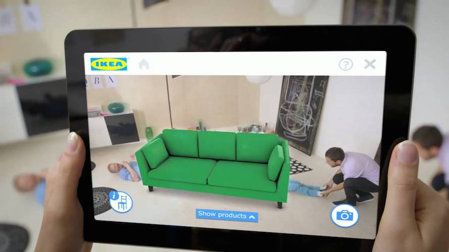 In the future, you could see what a couch will look like in your home before you buy it.