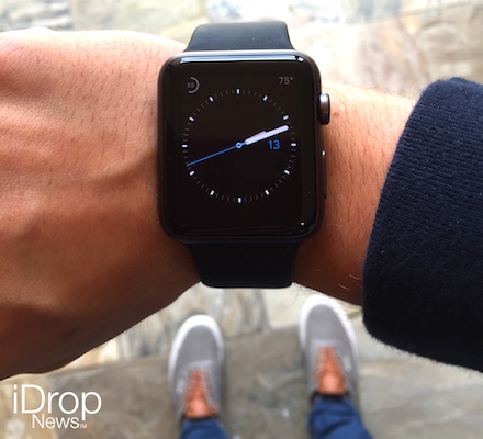 Man Wearing Black Apple Watch with Vans low res