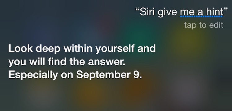 Siri Confirms Apple's Highly-Anticipated September 9th Event