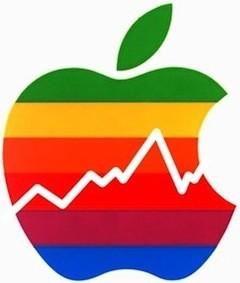 apple-rainbow-logo-with-stock-chart