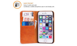 Genuine Leather Wallet Case for iPhone 6s Plus - 75%